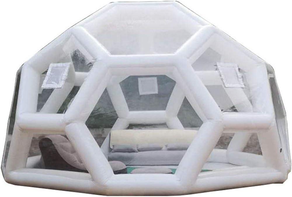 JASSXIN - Tienda de campaña hinchable para el jardín, tienda de fútbol de PVC, tienda de campaña gigante transparente, tienda de campaña de Igloo hinchable para playa, 5 m de diámetro