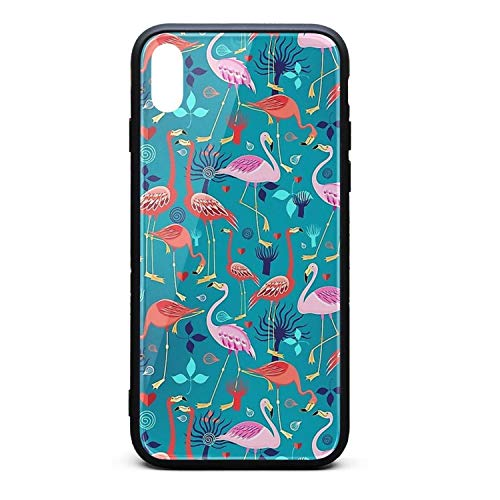 Flamingo Blue Nest Online 2018 T Ropical Phone Case for iPhone Xs Max TPU Full Protective Stylish Anti-Scratch Fashionable Glossy Anti Slip Thin Shockproof Soft Case