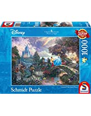 Schmidt - SCH-59472 - Disney Cinderella, 1000 stukjes Puzzel - vanaf 12 jaar - disney puzzel - van Thomas Kinkade