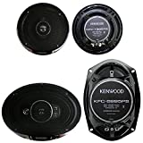 2) Kenwood KFC-1395PS 5.25'' 320W 3-Way + 2) 6x9'' 650W 5-Way Car Coaxial Speakers