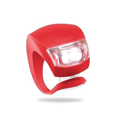 1/2 / 4pcs LED vélo vélo équitation nuit d'avertissement de sécurité Grenouille avant Feu arrière Feu arrière Regard Natral