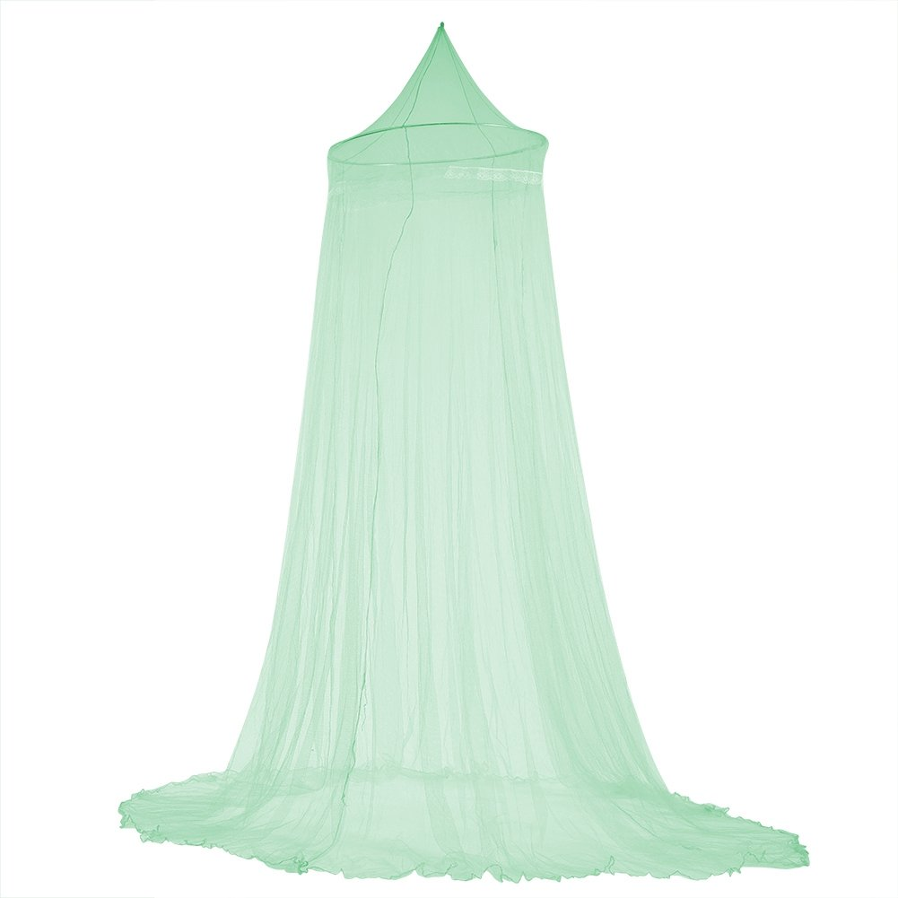 Fdit Bed Mosquito Netting Elegant Ruffle Lace Bed Canopy for Little Princess Baby Children (Green)