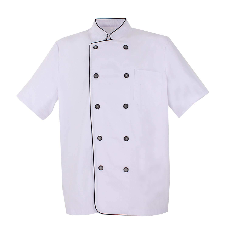 MISEMIYA - Chaquetas Chef Cocinero con BOTÓN REFORMADO MARMINTÓN SOLLASTRE GUISANDERO ADOBADOR Salsero - Ref.8421B