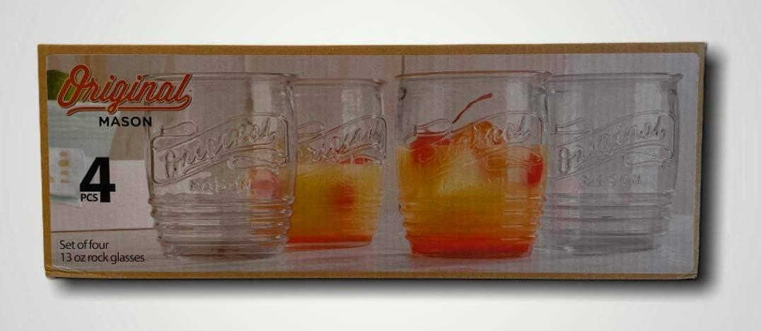 Home Special price Essentials 3942 Original Mason Max 43% OFF DOF Glass Set of 4