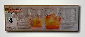 Home Essentials 3942 Original Mason Glass, Set of 4, DOF