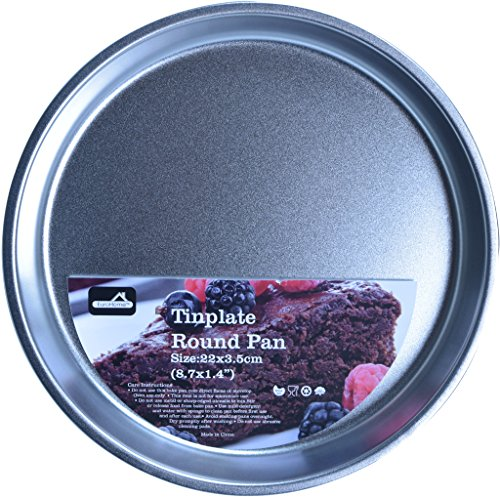 Euro Home 2168992 8.7 in. Tinplate Round Cake Pan - Natural by Euro-Home