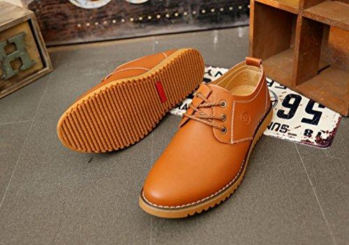 de Kaki en Simple Travail Printemps Chaussure Lacets Loisir Chaussure Homme XIGUAFR au Cuir a YwSqOA