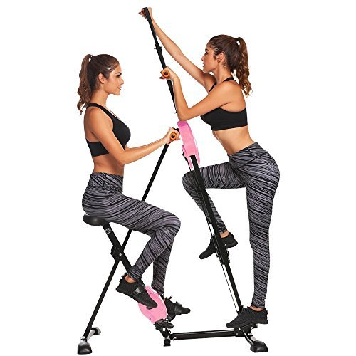 (Pagacat Compact Folding Vertical Climber, Exercise Bike for Body Trainers (US Stock))