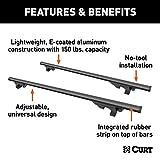 CURT 18118 53-3/8-Inch Black Aluminum Universal