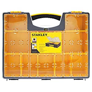 Stanley 10 Removable Bin Compartment Deep Professional Organizer