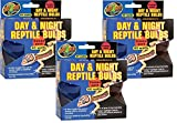 (3 Packages ) Zoo Med Day and Night Reptile 60 Watt Bulbs, Combo Pack