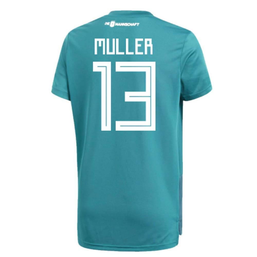 2018-19 Germany Away Training Football Soccer T-Shirt Trikot (Thomas Muller 13)