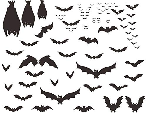 Mozamy Creative Halloween Bats Wall Decals Halloween Décor