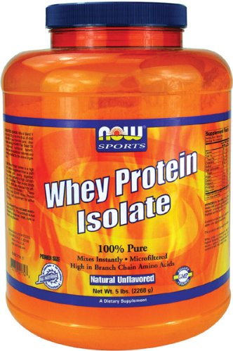 NOW Whey Protein Isolate Foods, 100% Pure 5LB (emballage peuvent varier)