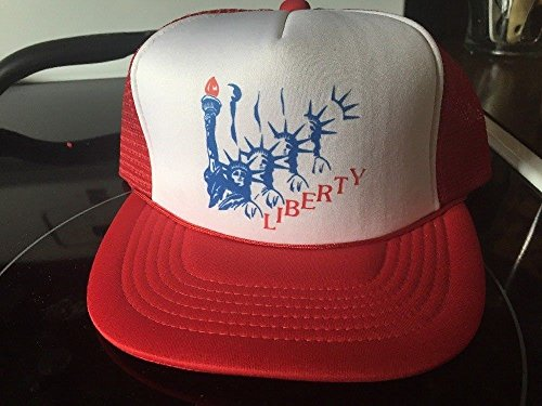 (Vintage Statue Of Liberty America Snapback Cap Trucker Hat)