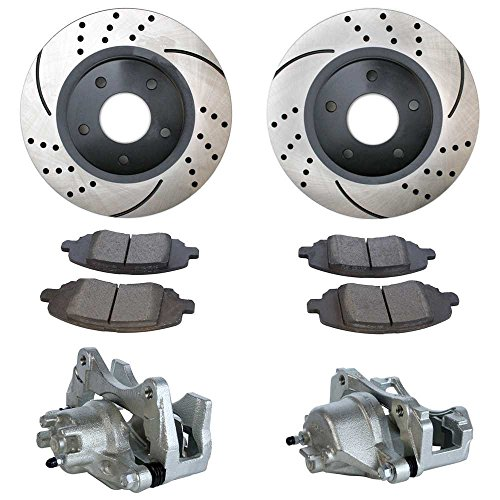 Prime Choice Auto Parts BCPKG00175 Package of Brake Calipers Performance Rotors and Semi-Mettalic Brake pads Choice Brake Caliper