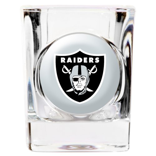 (Great American 8900674999 2 oz. Oakland Raiders Square Shot Glass)