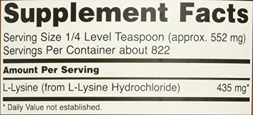 NOW L Lysine Powder, 1 Pound