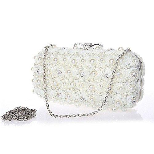 Cosmetics Chiffon Dress Diamond Fashion Mobile XIAOLONGY Bag Bag Evening Bag Women's Clutch Women's beige 0gxwwqPyYE