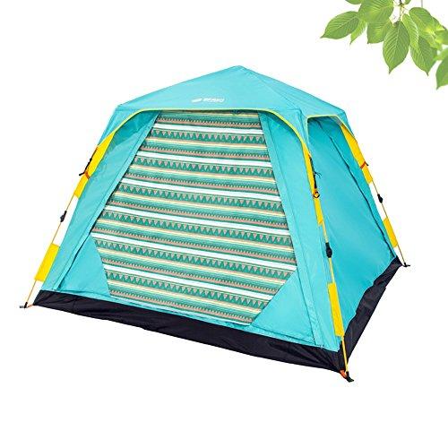 訪問不利敷居QFFL zhangpeng テント大面積のダブルテントファミリーの自動建設3-4スピードオープンテント2カラーオプションサイズオプション トンネルテント ( 色 : B , サイズ さいず : 1# )
