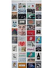 Fotogordijn XXL fotogordijn met 40 vakken voor 80 foto's 10 x 15 cm ansichtkaarten motiefkaarten - douchegordijn fotogalerie; Milky photoshop look