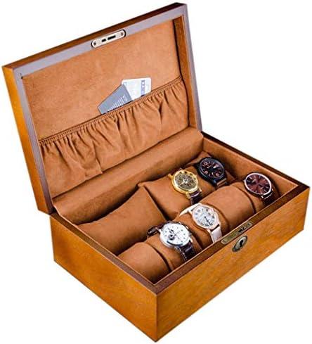 SBSNH 収納ボックス-2つの長い枕+ 5つの小さな枕時計ボックスジュエリー収納ボックス木製の時計ボックス