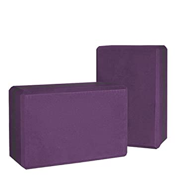 JESSIEKERVIN YY3 Fitness Yoga Brick EVA Purple High Density ...