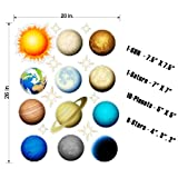 Solar System Stickers Wall Decals Removable Repositionable Outerspace Wall Art