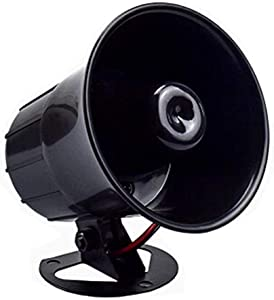 Wired Alarm Siren Horn,Universal 15W DC 6 to 12V Siren Horn for Automobile Alarm and Home Residential Commercial Security Alarm Siren