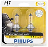 Automotive : Philips H7 Standard Halogen Replacement Headlight Bulb, 2 Pack