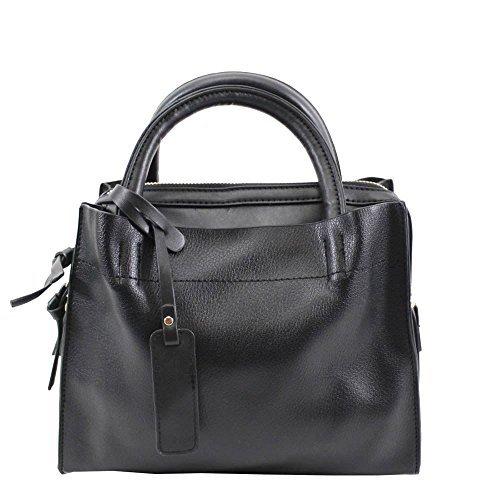 Haute für Diva S Neu Damen Kunstleder einfach Freizeit Einkaufstasche Schultertasche - Rosa, Medium Schwarz