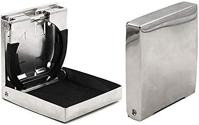 Fishing Bass Boat Marine Yacht RV Silver Stainless Steel Ring Cup Drink Holder