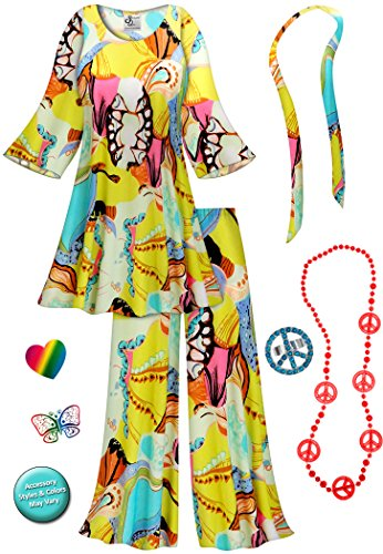 Rhapsody 2PC Plus Size Supersize Hippie Costume Basic Kit 5x - Super Plus Size Costumes 5x