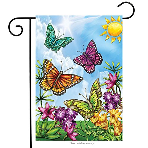 Butterflies and Sunshine Spring Garden Flag Floral Butterfly Sunshine 12.5