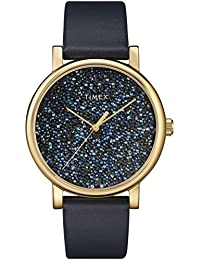 Women's TW2R98100 Crystal Opulence Blue/Gold Leather Strap Watch