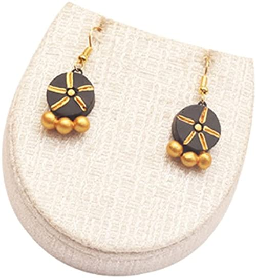 White /& Gold Terramart/_ Earring Set/_Fashion Jewellery for Women Girls