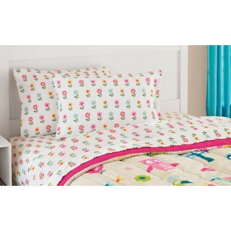 Mainstays Kids Woodland Bed in a Bag Bedding Set Includes Comforter, Flat and Fitted Sheets, Pillowcase and Sham, FULL