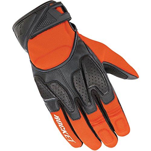 Joe Rocket Men's Atomic X2 Hybrid Motorcycle Glove (Orange/Black, Medium)