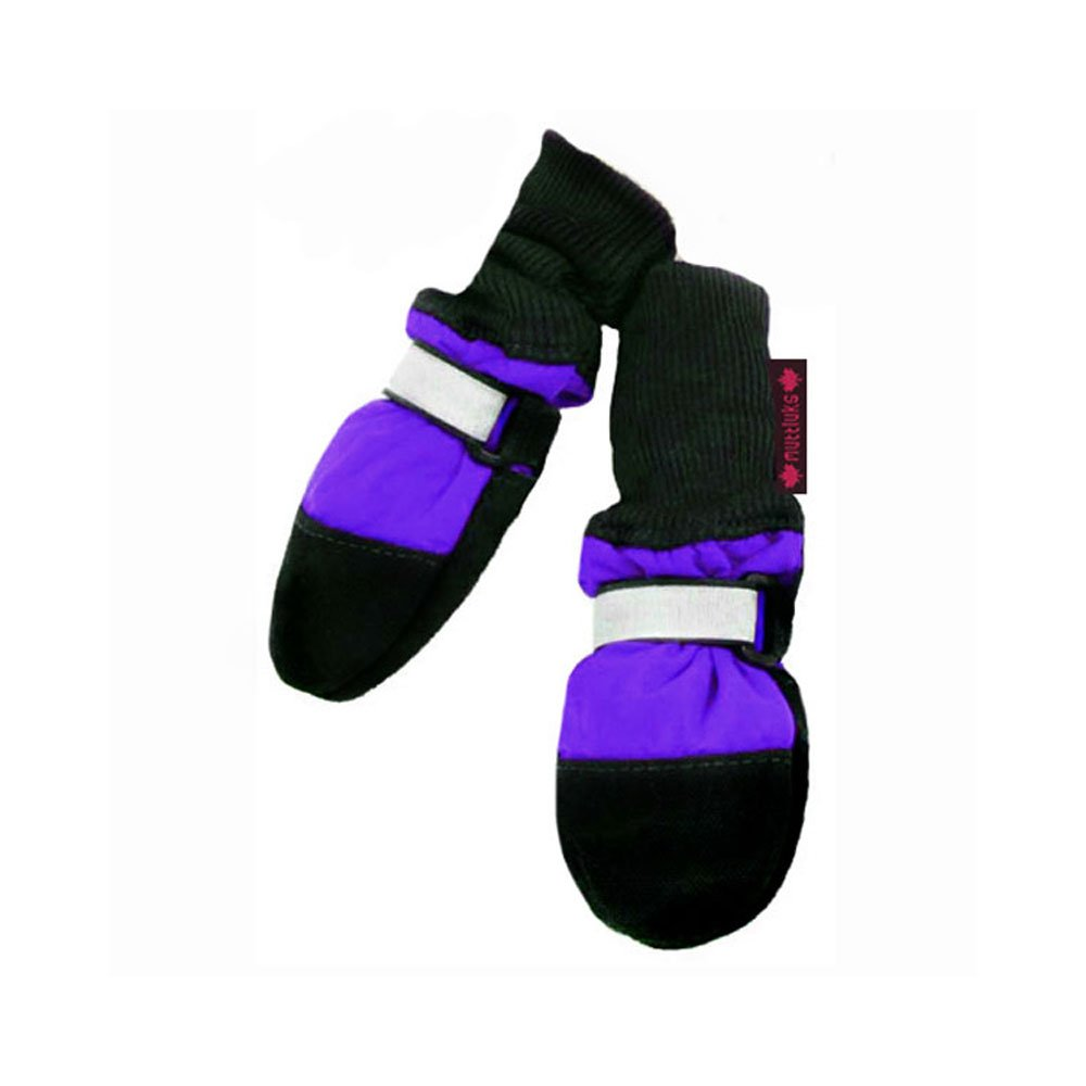 Muttluks Fleece Lined 2.75-Inch to 3.25-Inch Dog Boots, Small, Purple, Set of 4