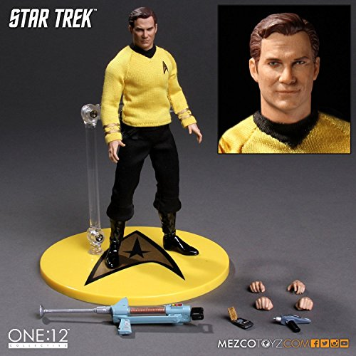 Mezco One:12 Collective Star Trek TOS Captain Kirk 6`` Action Figure NEW ^G#fbhre-h4 8rdsf-tg1337748