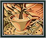 Diy oil painting, paint by number kit- Coffee romance 1620 inch.