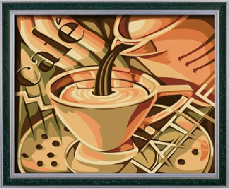 Diy oil painting, paint by number kit- Coffee romance 1620 inch. by Colour Talk