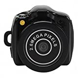 Ultra Mini Camera Micro DVR Video Recorder Security Camera Hidden Camera Spy Camcorder Webcam HD 720 * 480 (Black)