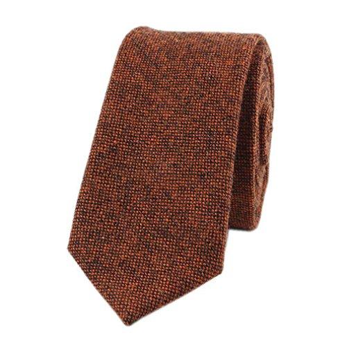 Hello Tie Unisex Wool Skinny Necktie Pure Color Narrow - Tie Pure Wool