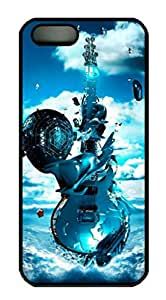 iCustomonline Case for iPhone 5S PC, 3D Guitar Musics Stylish Durable Case for iPhone 5S PC