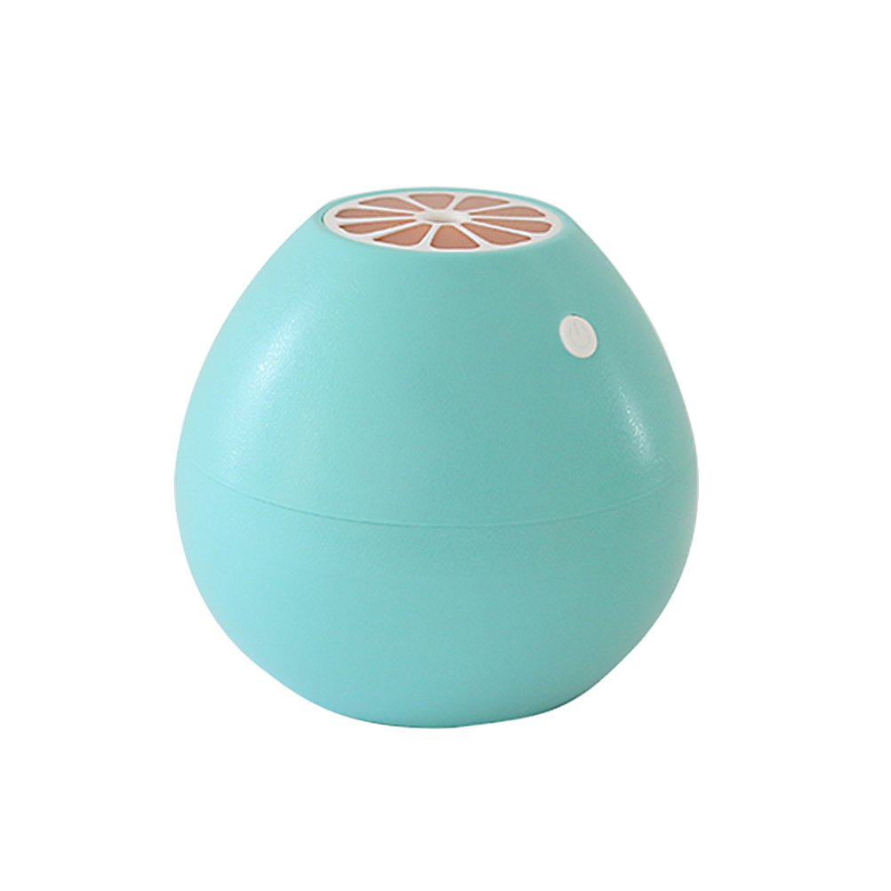 VORCOOL Ultrasonic Mist Humidifier Mini USB Air Humidifier Grapefruit Shape with LED Soft Light for Home Office Yoga Spa (Sky-blue)