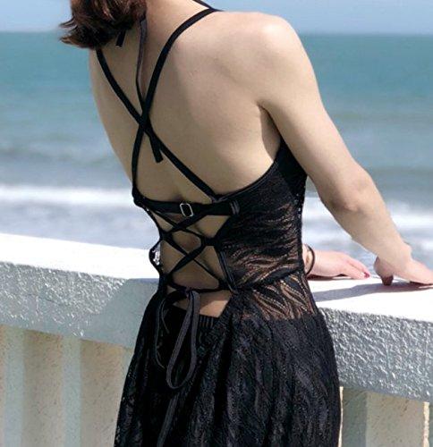 hot bagno sexy Xiaoxiaozhang profumato vento da Swimsuit sulla conservatore gonna L donne springs spiaggia costume tre piccolo slim lunga CC1twqH
