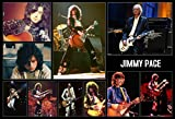 Mile High Media Jimmy Page Poster 13x19 Inch Collage Series | Photo Quality Color Print | Led Zeppelin