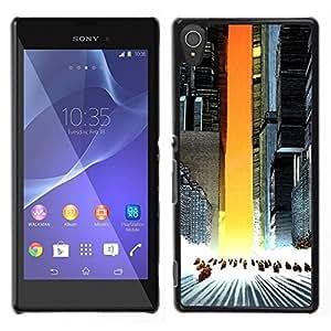 // PHONE CASE GIFT // Duro Estuche protector PC Cáscara Plástico Carcasa Funda Hard Protective Case for Sony Xperia T3 / Akira Squad /