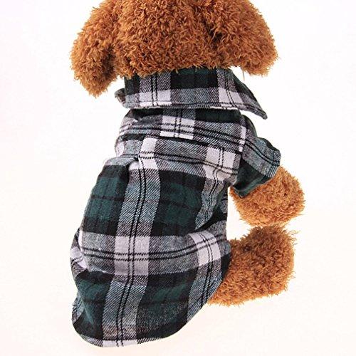 Cuadros Perros Casuales M Ropa Talla Gugutogo L Cuadros Verano Perro de Rojo para de Camisa a Camisas de verde Perros Camisa de Mascota Color de wZZYBA6q